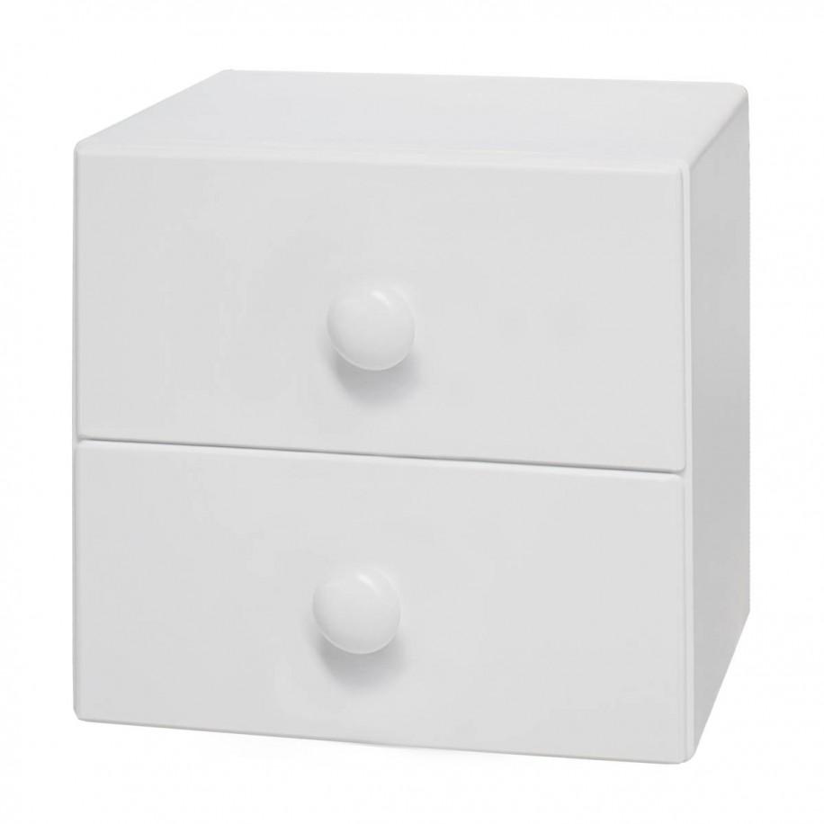 Table de chevet enfant suspendue rond blanc