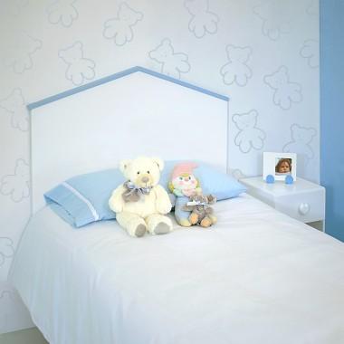 Tête de lit enfant Cabane bleue