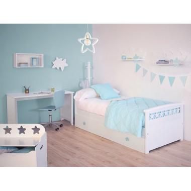 Chambre enfant avec lit gigogne Étoiles