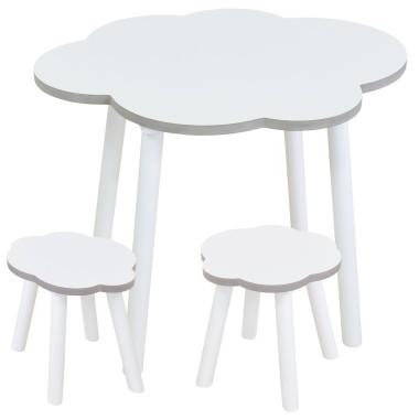 Table et chaises enfant Nuage Blanc