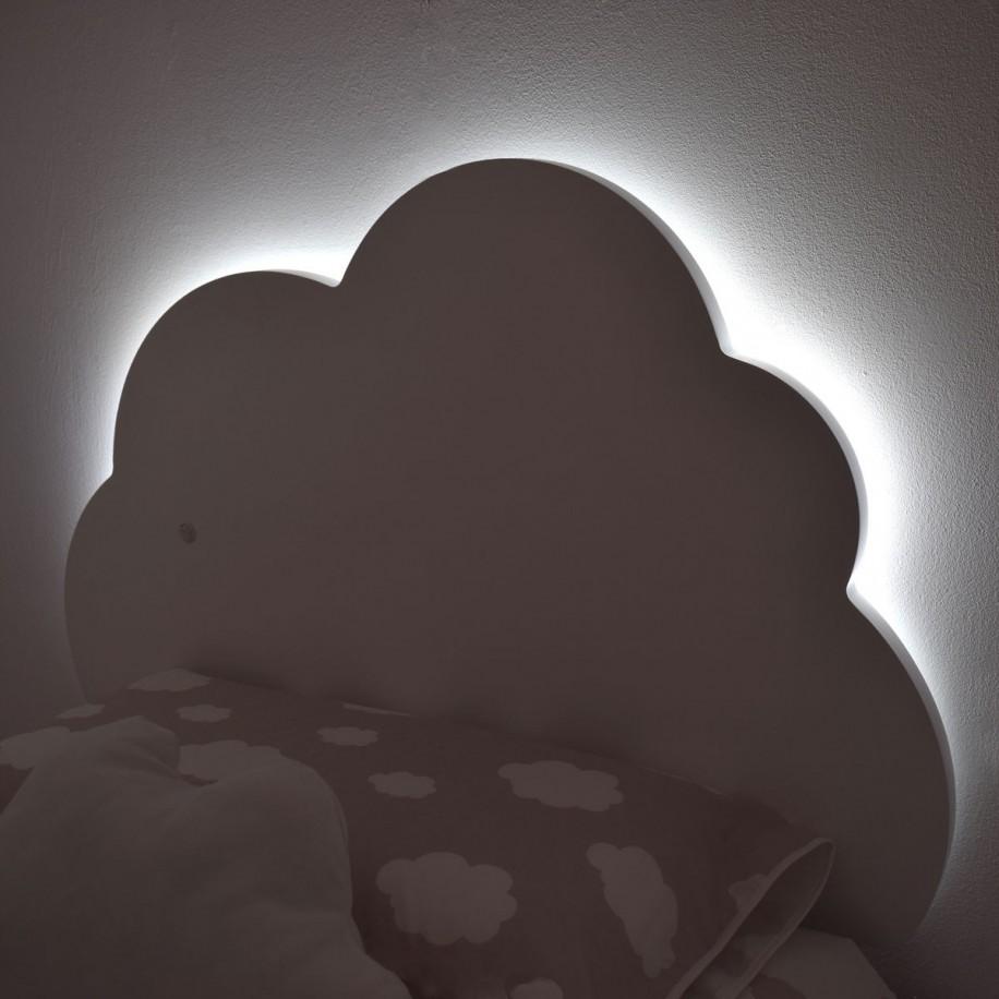Tête de lit Nuage avec de la lumière