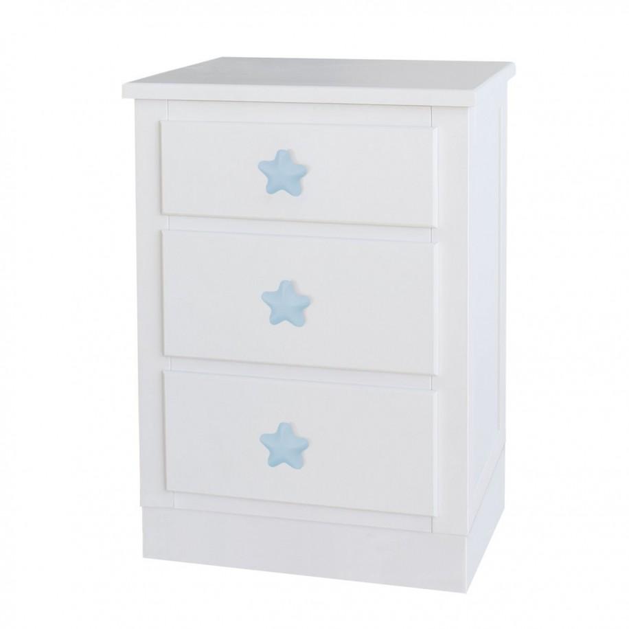 Table de chevet enfant avec tiroirs Socle Étoile bleue