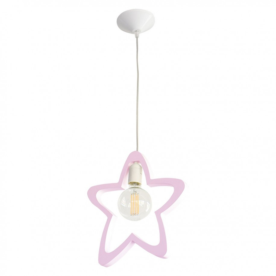 Suspension enfant Étoile rose
