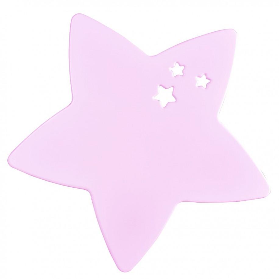 Applique murale enfant Étoile rose