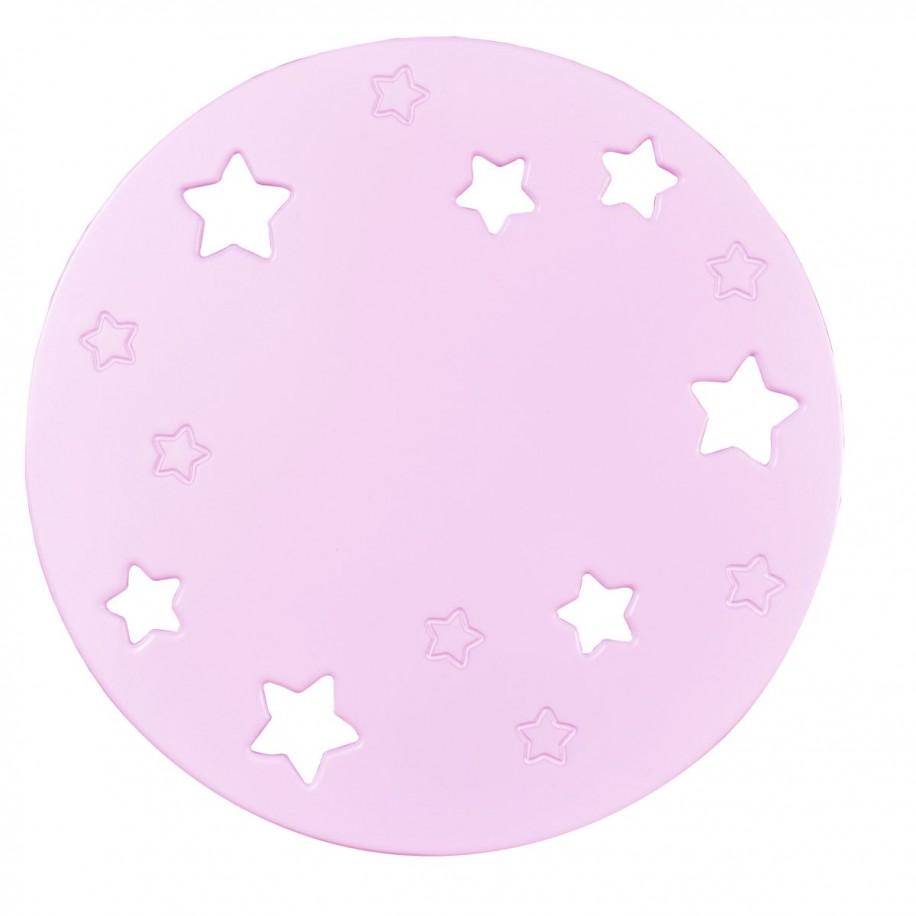 Applique murale enfant Lune rose