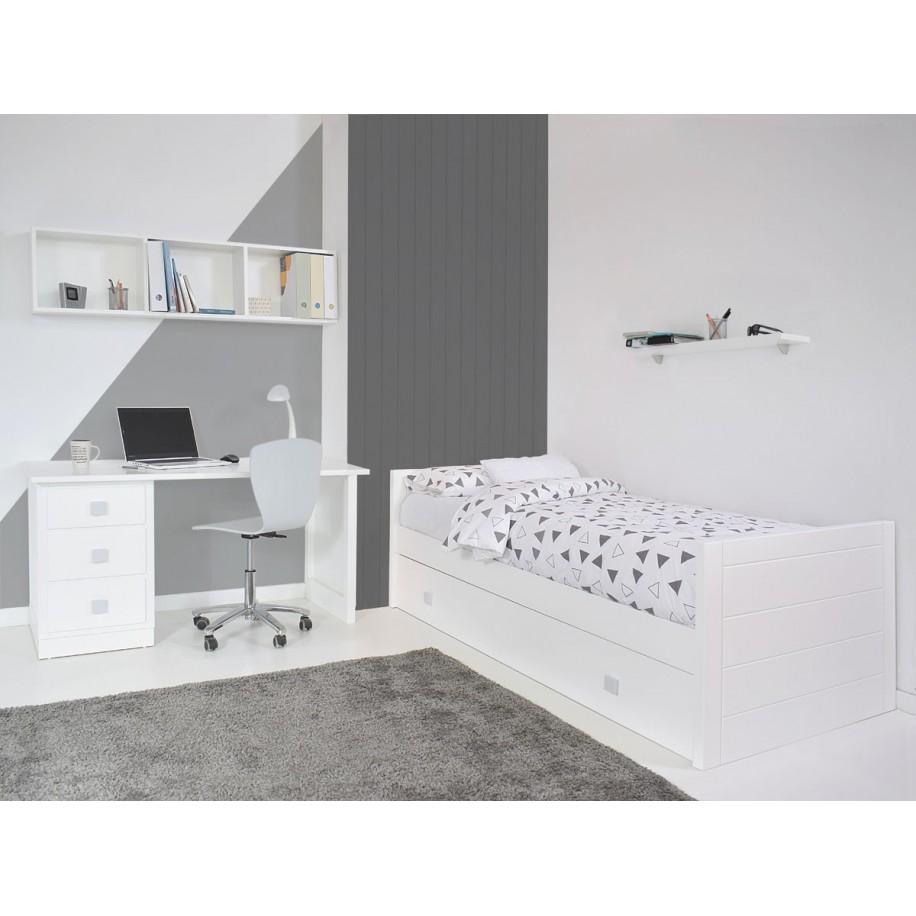 Chambre avec Bureau enfant avec caissons de rangement socle
