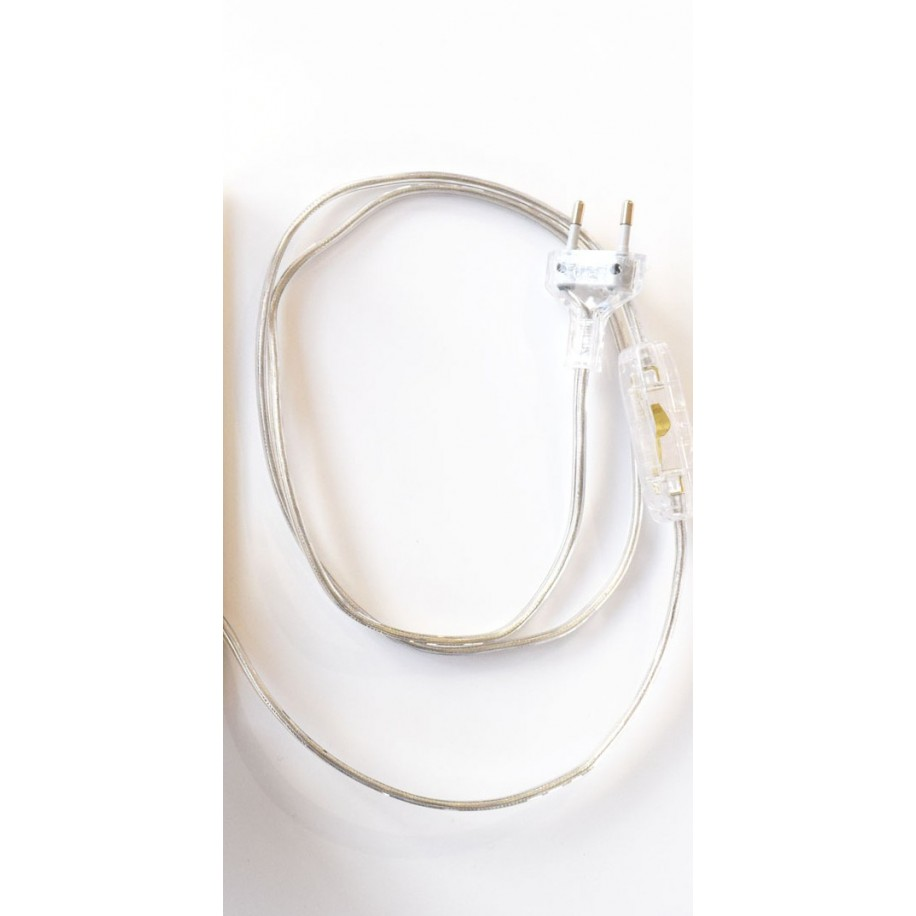Câble avec prise et interrumpteur  120 cm