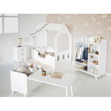 Chambre enfant Montessori Cabane avec armoire