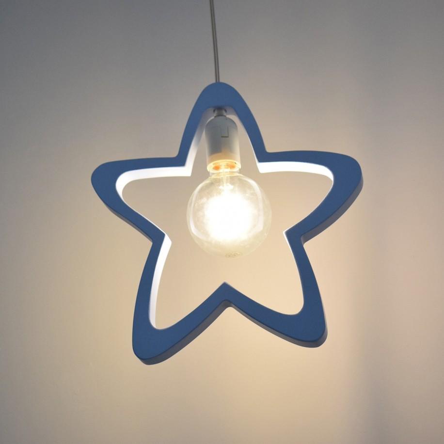 Lampe suspendue Étoile bleue