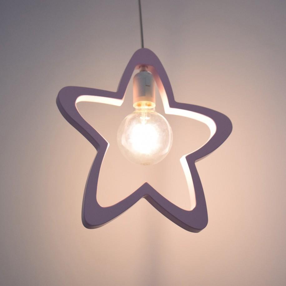 Lampe suspendue Étoile rose
