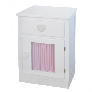Table de chevet enfant porte + rideau Socle