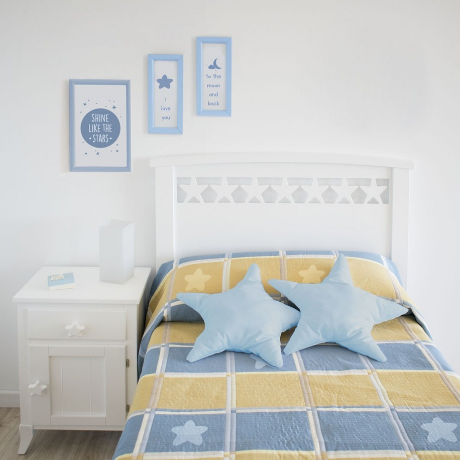 Tête de lit enfant Étoiles