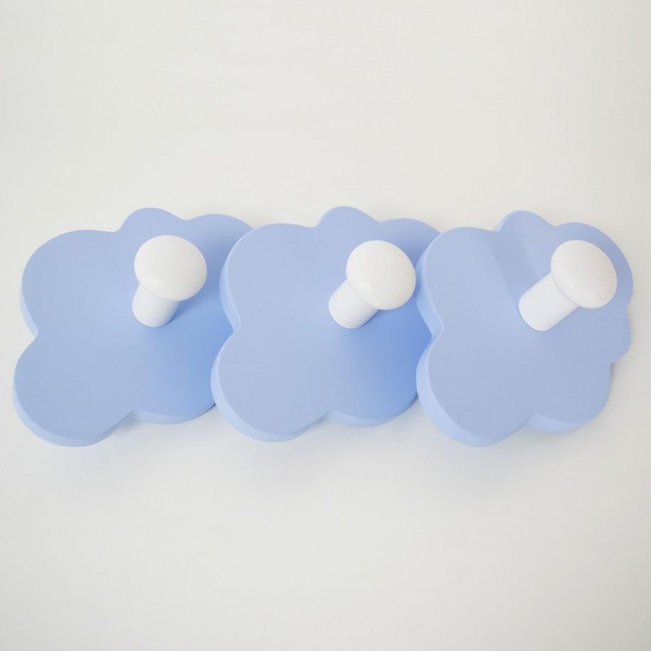 Portemanteau enfant Nuage poignées couleur bleue