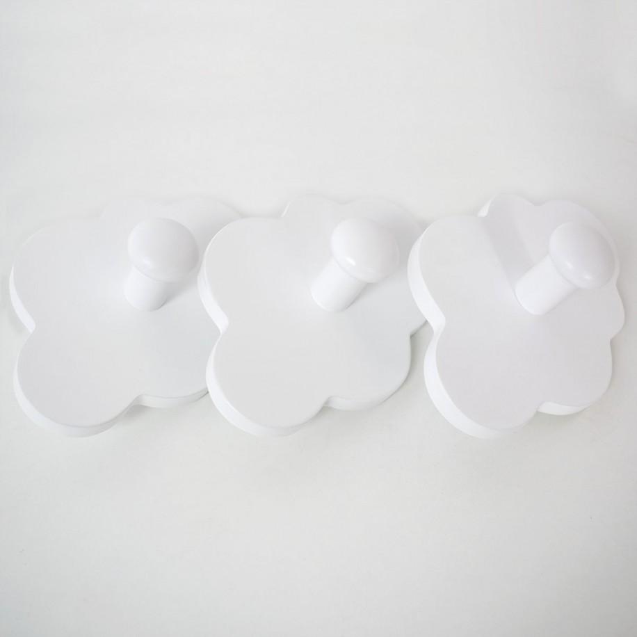 Portemanteau enfant Nuage poignées couleur blanche