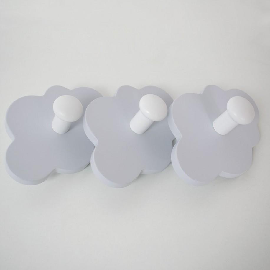 Portemanteau enfant Nuage poignées couleur grise