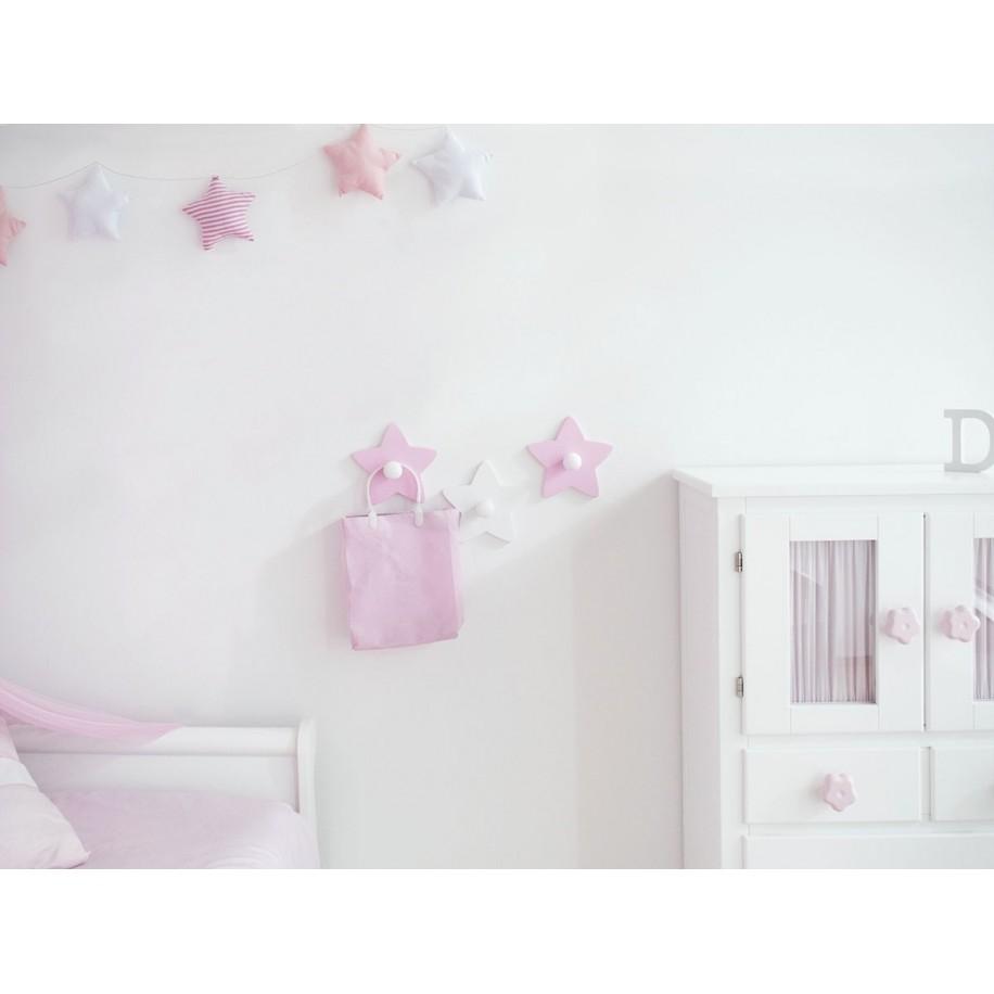 Chambre enfant avec portemanteau Étoile poignées au choix