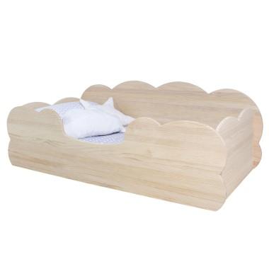 Lit Montessori Nuage en bois naturel