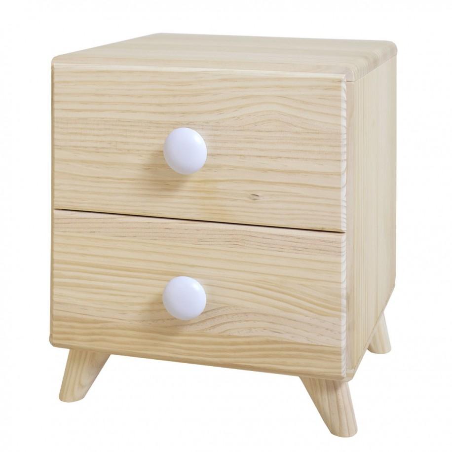 Table de chevet enfant Piccolo 2 tiroirs en bois massif