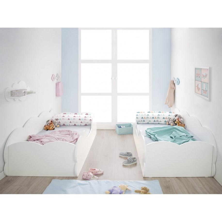 Chambre double Lit enfant Montessori Nuage