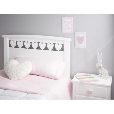 Tête de lit enfant Cœurs