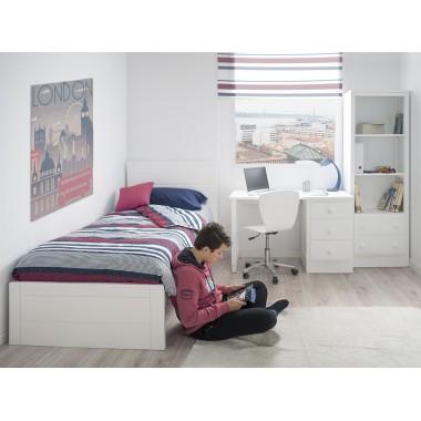 Chambre ado Linéaire avec pied de lit bas