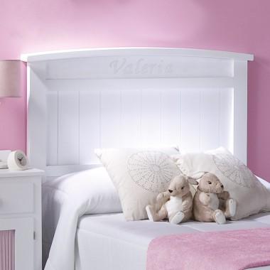 Tête de lit enfant Courbe. Prénom personnalisé.