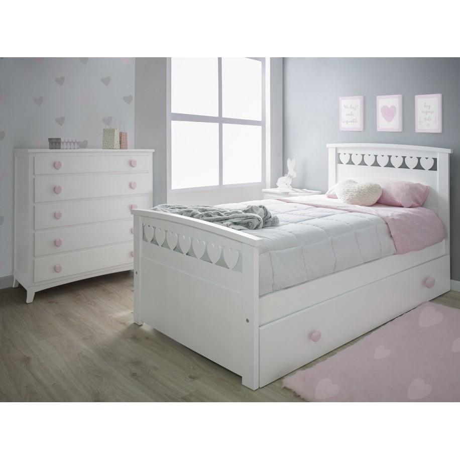 Chambre enfant Cœurs avec lit gigogne