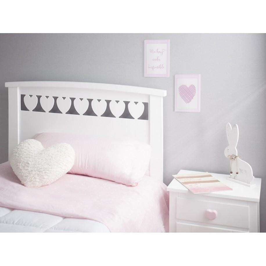 Chambre enfant Cœurs détails tête de lit