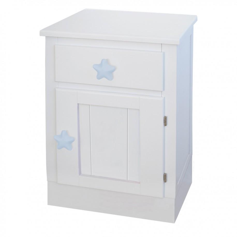 Table de chevet enfant avec porte Socle chambre étoile bleue
