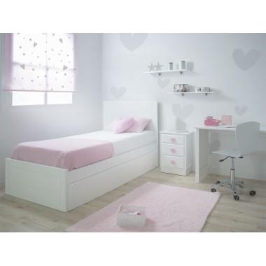 Chambre adolescent avec pied de lit bas Linéaire