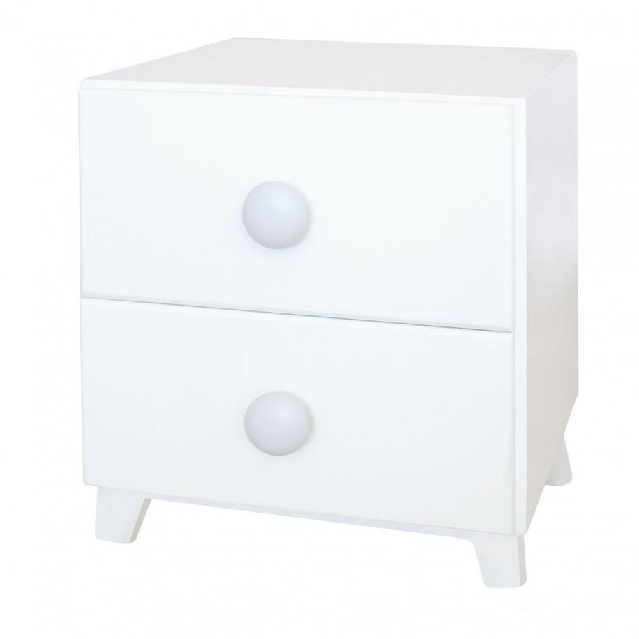 Table de chevet enfant avec 2 tiroirs Piccolo