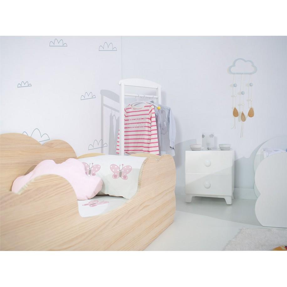 Chambre Lit Montessori Nuage en bois naturel