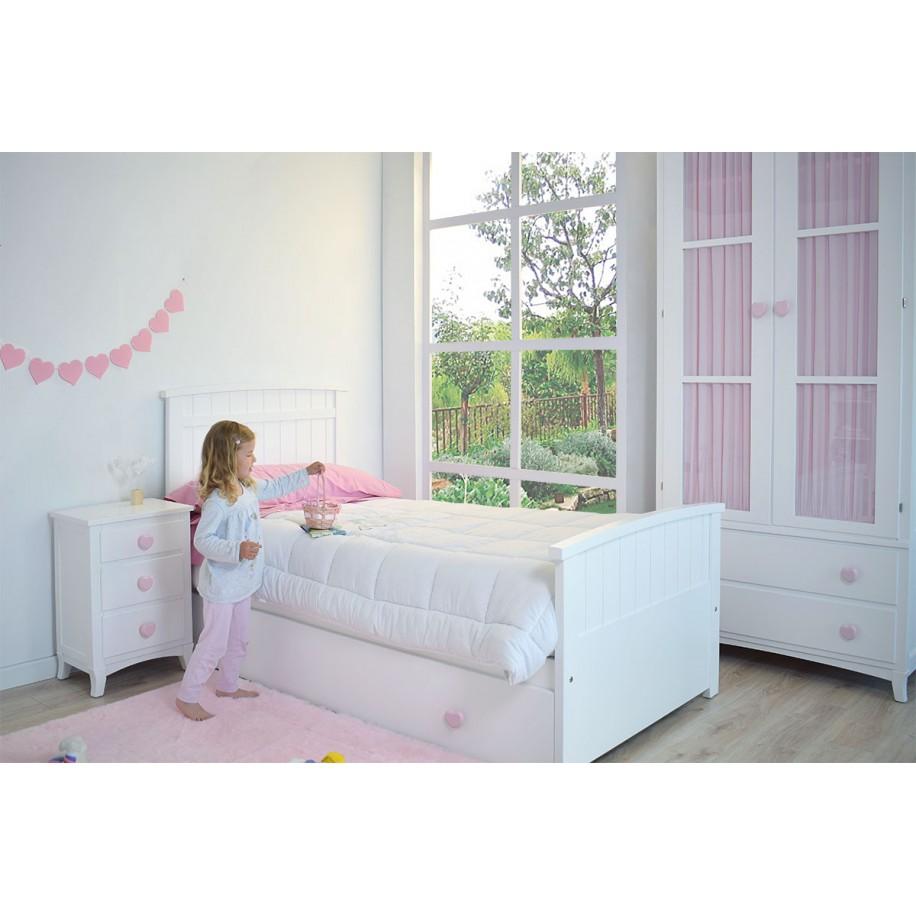 Armoire enfant 2 portes avec tiroirs