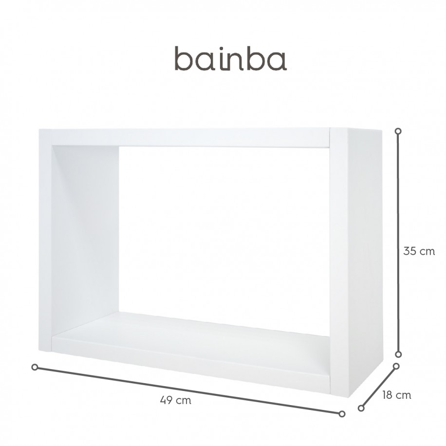 Dimensions étagère murale ado Cube - Petit modèle