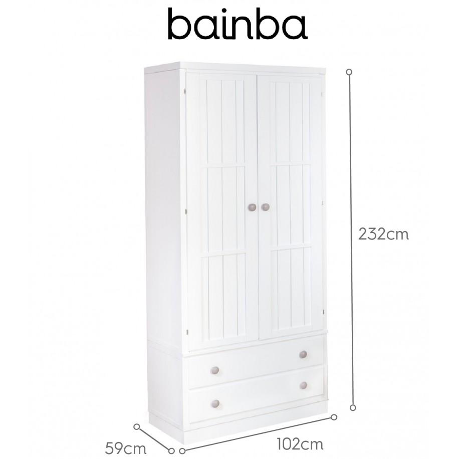 Dimensions Armoire 2 portes avec tiroirs sur socle