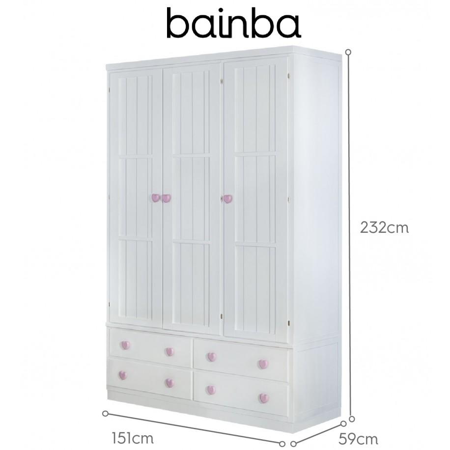 Dimensions armoire 3 portes avec tiroirs sur socle
