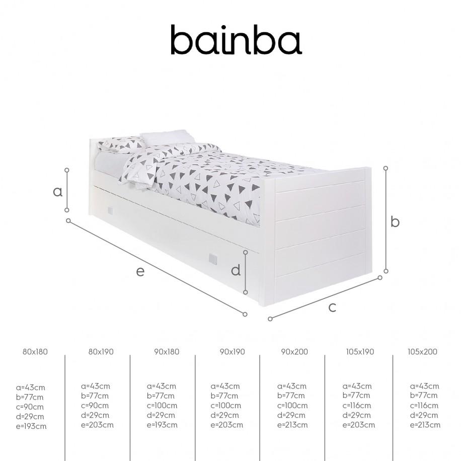 Dimensions du lit gigogne ado Linéaire