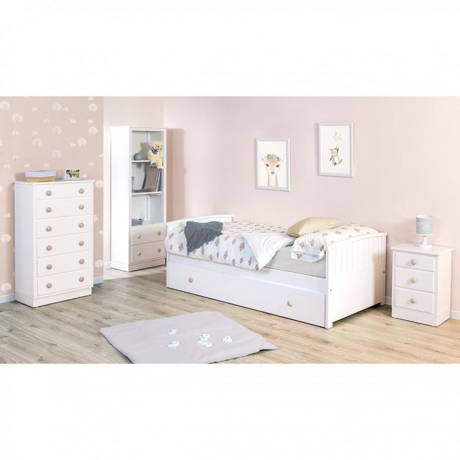 Chambre enfant avec lit gigogne Courbe