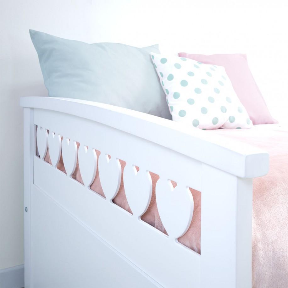 Détails du lit gigogne Cœurs