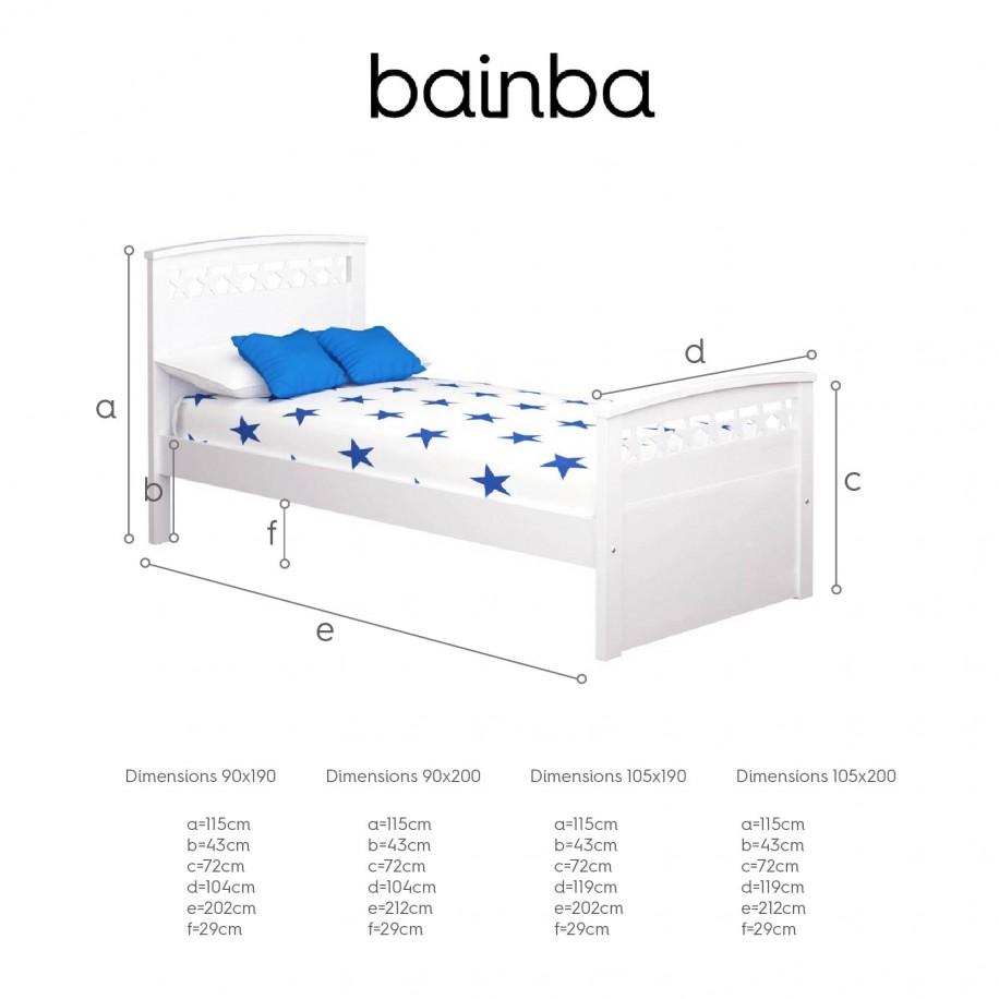 Dimensions du lit enfant Étoiles