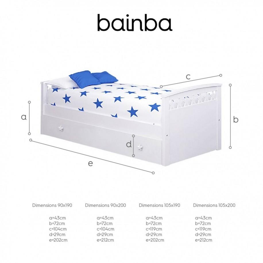 Dimensions du lit gigogne Étoiles