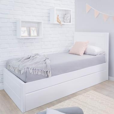 Lit gigogne adolescent Linéaire avec pied de lit bas