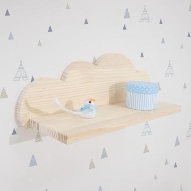 Étagère enfant Nuage en bois – petit modèle