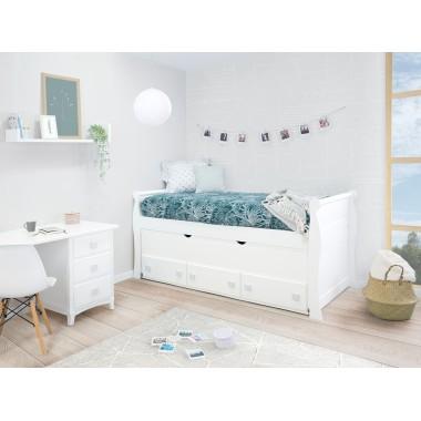 Chambre ado avec lit gigogne et rangement Gondole