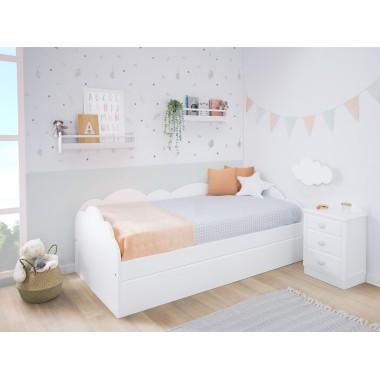 Chambre enfant avec lit gigogne Nuage