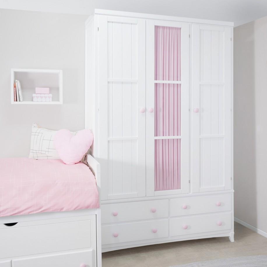 Armoire enfant 3 portes avec tiroirs